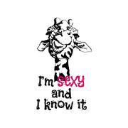 Head of a giraffe hipster Stock Illustration