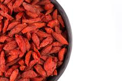Goji berries close up Stock Photos
