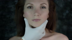 4k Shot of a Woman Having the Doctor preparing her for Facial Plastic Surgery Stock Footage