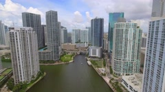 Aerial 4k dorne tour Brickell Stock Footage