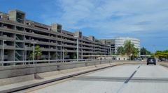 Airport long term parking garage - stock footage