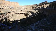 Colosseo interior panorama Stock Footage