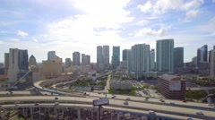 Miami city that never sleeps Stock Footage