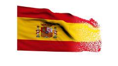 Flag of Spain Stock Illustration
