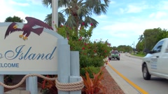Marco Island welcome sign Stock Footage