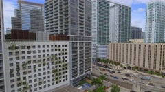 Icon Brickell Aerial footage Stock Footage