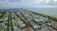Aerial panoramic Miami Beach - stock footage