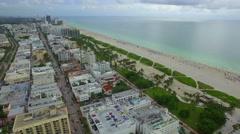 Aerial tour Miami Beach 4k uhd Stock Footage