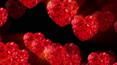 Brilliant red heart background Stock Footage