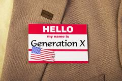 I am Generation X. Stock Photos