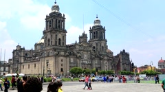 Mexico City, Metropolitan Cathedral. Stock Footage