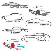 Car sketches. the car logos Piirros