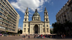 St. Stephen's Basilica in Budapest. Stock Footage