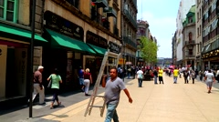 Pedestrians in the Downtown of Mexico city. Stock Footage