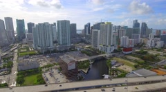 Helicopter aerial tour Brickell 4k Stock Footage