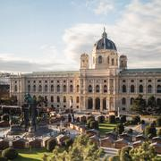 Natural History Museum in Maria-Theresien-Platz in Vienna Stock Photos