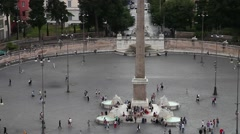 Piazza del Popolo square Stock Footage