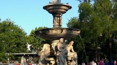 Buda castle Matthias fountain. Stock Footage