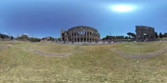 The Colosseum, Rome, Italy, 360 video VR Stock Footage