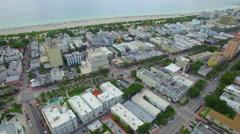 Stock aerial footage Miami Beach Florida Stock Footage