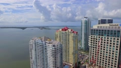 Flying high over Brickell Stock Footage