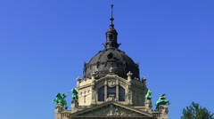 The Bath Szechenyi in Budapest. Stock Footage