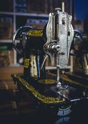 Vintage Sewing Machines Stock Photos