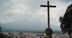 Cerro de la Cruz WS Stock Footage
