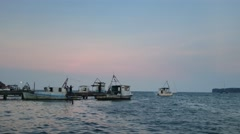 Fishing Boat in Livingston Stock Footage