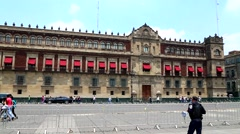 Mexico City, The National Palace. Stock Footage