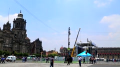 Mexico City, Zócalo Square Stock Footage