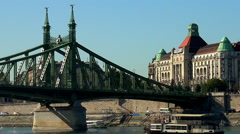 Budapest. Danube. Architecture, old houses, streets and neighborhoods. Stock Footage