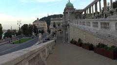 Vajdahunyad castle in Budapest. Stock Footage