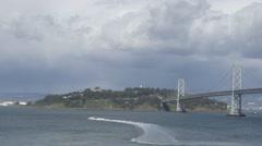 Treasure island located in San Francisco, California Stock Footage