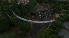 Evening Aerial Flying Over Greenville South Carolina Stock Footage