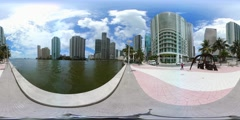 360 vr spherical video of Downtown Miami Stock Footage