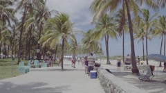 D-log video of Miami Beach unedited Stock Footage