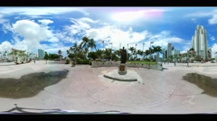 360 vr spherical video of Downtown Miami Biscayne Stock Footage