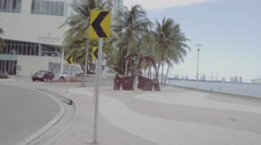 Downtown Miami by the Miami River D-log flat profile Stock Footage