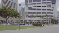 Downtown Miami skyscrapers D-Log profile Stock Footage