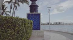 Miami Riverwalk D-log flat profile stock video 4k Stock Footage