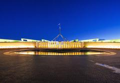 Parliament of Australia in Canberra Stock Photos