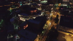Night Aerial Flying Over Greenville South Carolina Stock Footage
