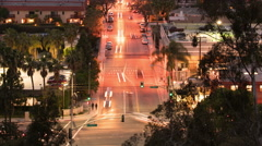 Culver City Traffic Time Lapse 15 Los Angeles 4K Stock Footage
