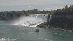 NIAGARA FALLS CRUISES EXPERIENCE. Voyage to the falls boat tour. 4K UHD. Stock Footage