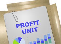 Profit Unit concept Stock Illustration