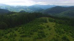 Aerial view of the Ukrainian Carpathian mountains Stock Footage