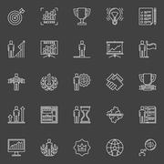 Personal development icons Stock Illustration