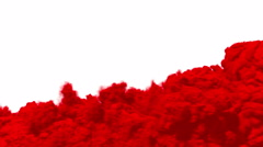 Red smoke, steam on a white background. - stock footage