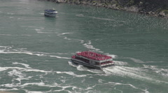 NIAGARA FALLS CRUISES EXPERIENCE. Voyage to the falls boat tour. 4K UHD. Stock Footage